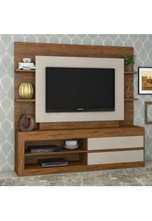 Estante Para Tv Até 43 Polegadas Home Tabu Cedro/Off White - Viero Móveis