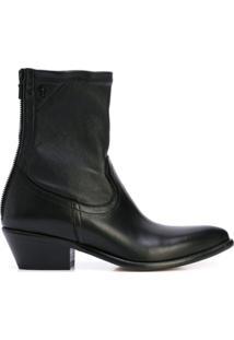 Rta Ankle Boot Com Zíper - Preto