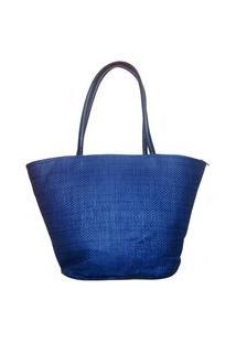 Bolsa De Praia Estruturada Real Arte Azul