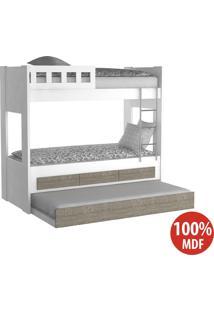 Treliche 3 Gavetas Com Escada 100% Mdf 908910 Branco/Demolição - Foscarini