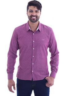 Camisa Slim Fit Live Luxor Marsala 2112 - M