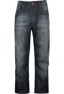 Calça Jeans Colcci Reta Comfort Pesponto Azul