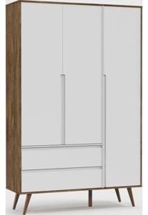 Roupeiro Retrã´ Clean 3 Portas Branco Soft / Teka / Eco Wood - Branco - Dafiti