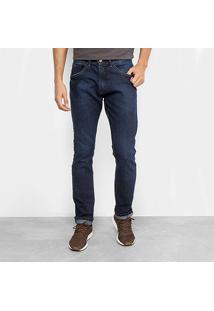 Calça Jeans Hd Masculina - Masculino-Azul