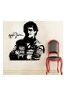 Adesivo De Parede Ayrton Senna 1 - Eg 102X98Cm
