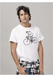 Camiseta Masculina Queen Bicycle Race - Masculino-Branco