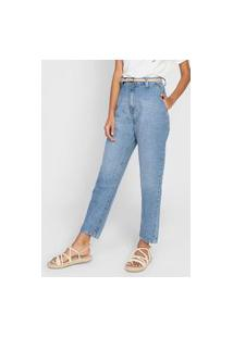 Calça Jeans Cantão Mom 80'S Azul