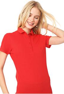 Camisa Polo Polo Wear Lisa Vermelho