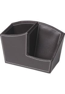 Porta Caneta/Celular Premium Marrom 15Cm