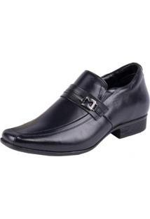 Sapato Social Jota Pe Grow Air King Masculino - Masculino-Preto