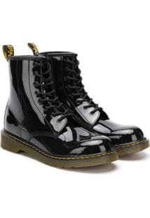Dr. Martens Kids Teen Lace-Up Ankle Boots - Preto