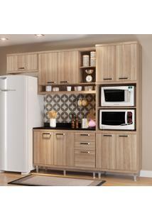 Cozinha Compacta Com Tampo 9 Portas 5829 Argila - Multimóveis