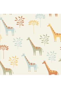 Papel De Parede Stickdecor Adesivo Infantil Girafa 3Mt A 1,00Mt L