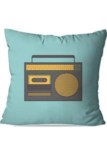 Almofada Avulsa Decorativa Radio Retro