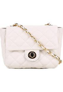 e720e71ba257c8 Zattini Bolsa Luz Da Lua Feminina Branca Mini Bag Matelassê Couro -  Feminino-Branco