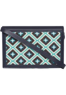 Mini Clutch Lygia Teia - Azul