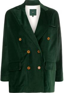 Jejia Double Breasted Blazer - Verde