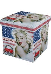 Puff Dobrável Com Baú Mk-001-Marka Móveis - Marilyn Monroe