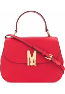 Moschino Bolsa Tote Com Placa De Logo M - Vermelho