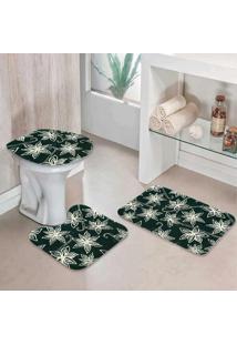 Jogo Tapetes Para Banheiro Basic Flowers