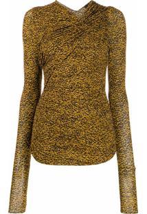 Isabel Marant Blusa Com Franzido Nos Ombros - Amarelo