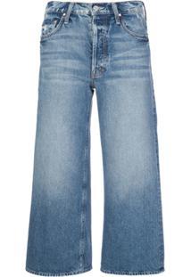 Mother Calça Jeans Reta Tomcat Cropped - Azul