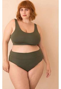 Parte De Baixo Sunkini Comfy Plus Size Verde Escur