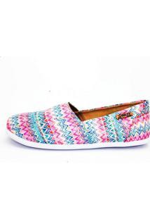 Alpargata Quality Shoes Feminina 001 Étnico Rosa 40