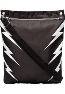 Neil Barrett Tiger Bolt Zip Bag - Preto