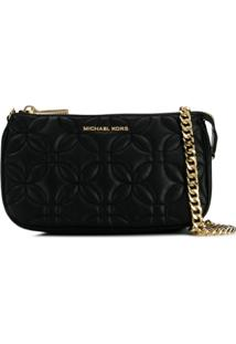 Michael Michael Kors Md Chain Clutch Bag - Preto