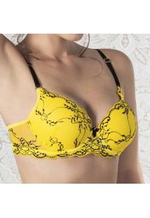 Sutiã 2Rios Renda Bicolor-Amarelo-P