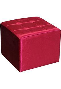 Puff Decorativo Quadra B-267 Vermelho - Domi