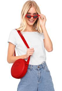 Bolsa Colcci Redonda Vermelha - Vermelho - Feminino - Dafiti