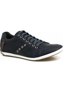 Sapatênis Zariff Shoes Casual Couro - Masculino-Azul