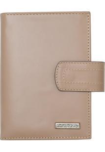 Carteira Corazzi Leather Deluxe Porta Cheque Caqui