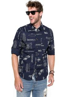 Camisa Triton Comfort Azul-Marinho