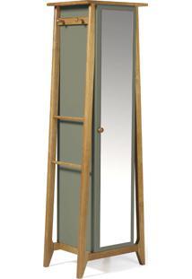 Armário Multiuso 1 Porta Stoka 981 Nogal/Cinza - Maxima