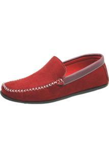 Mocassim Ousy Shoes Docksides Vermelho