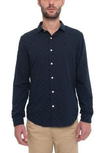 Camisa Manga Longa Textured Poplin