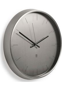 Relógio De Parede De Metal Umbra Niquel 30,5 Cm - 26674