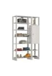 Guarda Roupa Closet 01 Porta 09 Nichos Yes Ey103.107 Branco Nova Mobile
