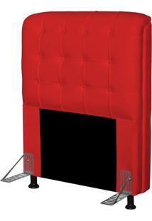 Cabeceira Para Cama Box Solteiro 90 Cm Califórnia Corino Vermelho - Js Móveis