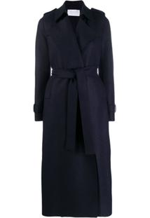 Harris Wharf London Trench Coat Com Amarração Na Cintura - Azul