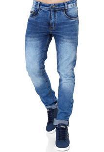 Calça Jeans Masculina Elétron Azul