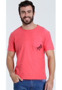 Camiseta Masculina Bolso Manga Curta Marisa