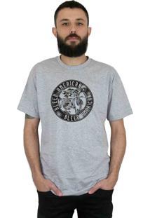 Camiseta Bleed American Los Borachos Cinza Mescla