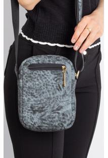 Bolsa Shoulder Bag De Couro Pietra - Azul Mescla - Azul - Feminino - Dafiti