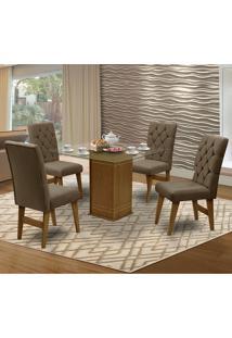 Mesa Para Sala De Jantar Saint Louis Com 4 Cadeiras – Dobuê Movelaria - Mell / Cacau