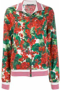 Dolce & Gabbana Jaqueta Bomber Com Estampa Floral - Verde