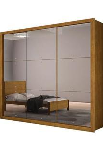 Guarda-Roupa Tokyo Gold Com Espelho - 3 Portas - Imbuia (Veneza 3 Espelhos)